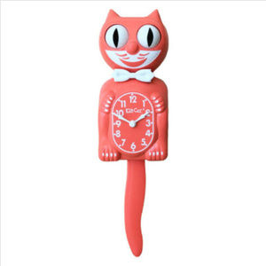 Urban Outfitters Living Coral Kit-Cat Clock